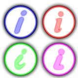 Info icon. Some icons about universal information sign Royalty Free Stock Photography