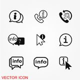 Info icon vector. Illustration of information on background royalty free illustration