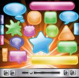 Info icons Stock Photo