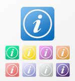 Info icons set Royalty Free Stock Photos