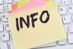 Info information message news announcement announce business con Stock Photo