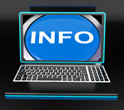Info On Laptop Means Computer Knowledge Information And Assistan Royalty Free Stock Photo