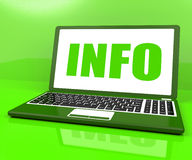 Info On Laptop Means Knowledge Information Royalty Free Stock Photos