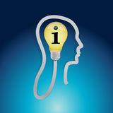 Info light bulb head illustration design Stock Photography