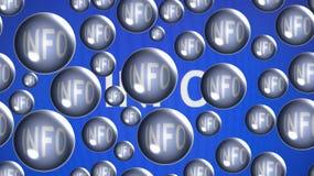 Info-Luftblasen Stockfoto