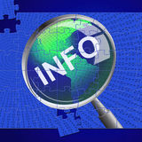 Info Magnifier Represents Advisor Answer And Inform Royalty Free Stock Photography