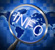 Info Magnifier Represents Support Magnification And Search Royalty Free Stock Photography
