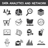 Info management, data analytic icons Royalty Free Stock Photo