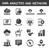Info management, data analytic icons Stock Photography