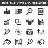 Info management, data analytic icons Royalty Free Stock Photography