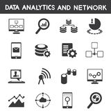 Info management, data analytic icons. Set of 16 data analytic icons, big data icons royalty free illustration