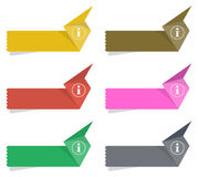 The info origami label set Royalty Free Stock Images
