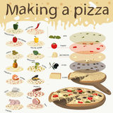 Info-pizza. This infographic can help you create a pizza, in any way you want Stock Photography