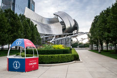 Info point near the Jay Pritzker Pavilion Stock Photo