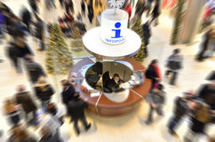 Shopping center info point Royalty Free Stock Images