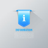 Info ribbon tag Royalty Free Stock Photography
