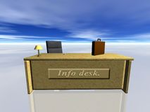 Info-Schreibtisch. Lizenzfreies Stockfoto
