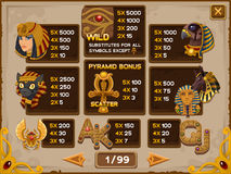 Info screen for slots game Royalty Free Stock Photography