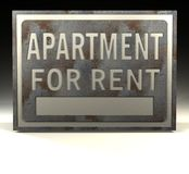Info Sign apartment for rent Royalty Free Stock Images
