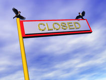 Info sign, closed. Royalty Free Stock Images