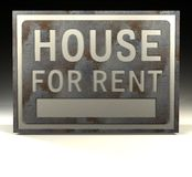 Info Sign house for rent Royalty Free Stock Image