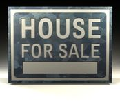 Info Sign house for sale Royalty Free Stock Photography