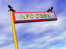 Info sign, info desk. Royalty Free Stock Photography