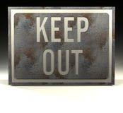 Info Sign keep out Royalty Free Stock Images