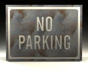 Info Sign no parking Royalty Free Stock Photos