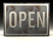 Info Sign open Royalty Free Stock Images
