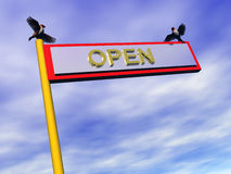 Info sign, open. Royalty Free Stock Images