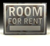 Info Sign room for rent Royalty Free Stock Photos