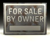 Info Sign for sale owner Stock Photography