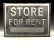 Info Sign store rent Royalty Free Stock Photography