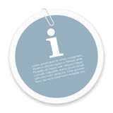 Info sticker Royalty Free Stock Images