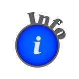 Info-Symbol Lizenzfreie Stockfotografie