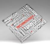 Info-testo di tecnologia (nube), illustrazione con la s illustrazione vettoriale
