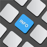 Info text on a button keyboard.  Illustration Stock Images