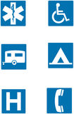 Info traffic signs Royalty Free Stock Photos