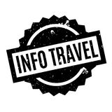 Info Travel rubber stamp Royalty Free Stock Images