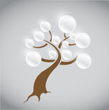 Info tree illustration design Royalty Free Stock Image