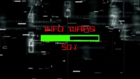 Info wars progress bar on digital background.  stock illustration