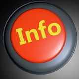 Info 3D button Royalty Free Stock Image