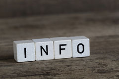 Info, written in cubes Royalty Free Stock Images
