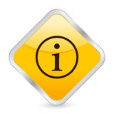Info yellow square icon. Yellow square icon isolated on a white background. Vector illustration