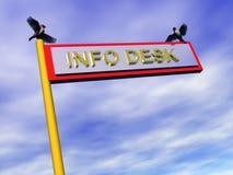 Info-Zeichen, Info-Schreibtisch. Lizenzfreie Stockfotografie