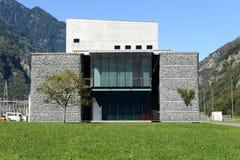 Infocenter de Alptransit en Bodio en el valle de Leventina Foto de archivo
