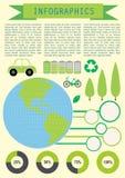 Infochart показывая землю планеты иллюстрация штока