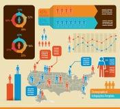 Infochart del Demographics stock de ilustración