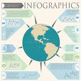 An infochart with a globe Stock Image